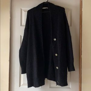 Zara Black Knit Cardigan
